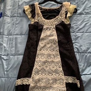 Urban Stitch Black and White Lace Dress